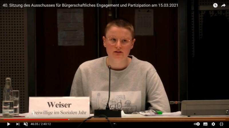 Anhörung im Berliner Abgeordnetenhaus am 15. März 2021