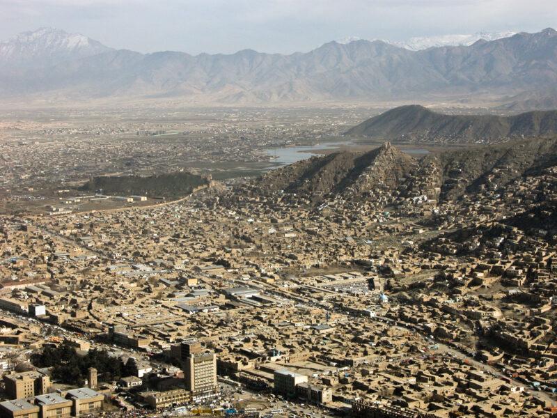 Luftbild Kabul